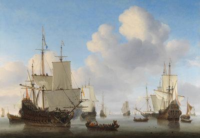 Rijksmuseum Hollandse Schepen Willem van de Velde RM17 (Met Gratis Lijm)