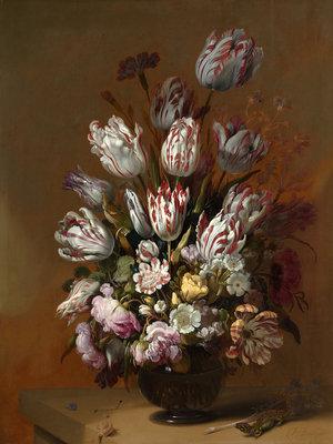Rijksmuseum Stilleven met bloemen Hans Bollongier RM2 (Met Gratis Lijm)