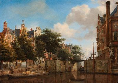 Rijksmuseum Amsterdam Stadsgezicht Haarlemmersluis RM27 (Met Gratis Lijm)
