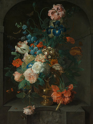 Rijksmuseum Stilleven met bloemen Coenraet Roepel RM3 (Met Gratis Lijm)