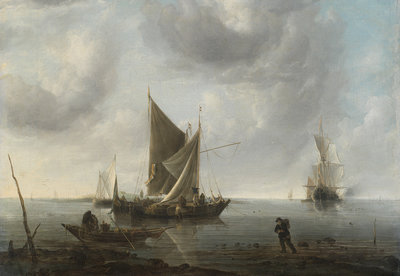 Rijksmuseum Schepen voor Anker op kalme Zee RM30 (Met Gratis Lijm)