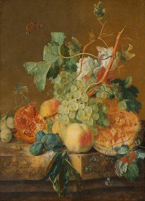 Rijksmuseum Stilleven met vruchten Jan van Huysum RM36 (Met Gratis Lijm)