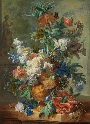 Rijksmuseum Stilleven met bloemen Jan van Huysum RM4 (Met Gratis Lijm)