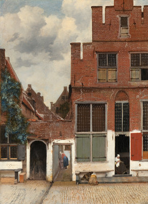 Rijksmuseum Gezicht op Huizen in Delft Johannes Vermeer RM40 (Met Gratis Lijm)