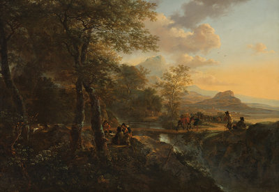 Rijksmuseum Italiaans Landschap Jan Both RM47 (Met Gratis Lijm)