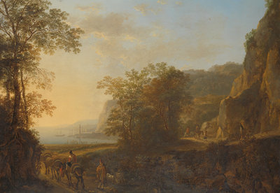 Rijksmuseum Italiaans Landschap met haven Jan Both RM48 (Met Gratis Lijm)