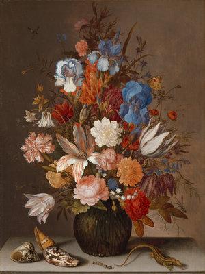 Rijksmuseum Stilleven met bloemen Balthasar van der Ast RM9 (Met Gratis Lijm)