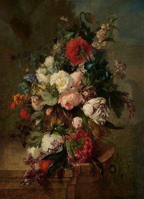 Rijksmuseum Stilleven met bloemen Harmanus Uppink RM8 (Met Gratis Lijm)