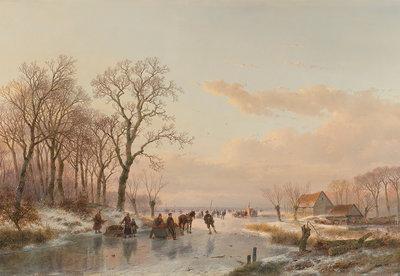 Rijksmuseum Bevroren Vaart bij de Maas 1867 RM65 (Met Gratis Lijm)