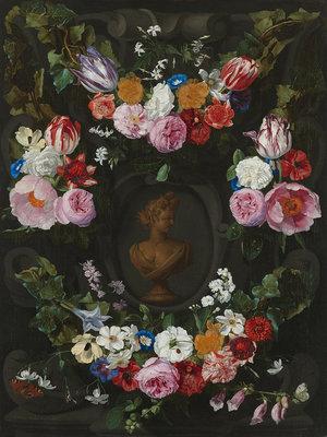 Rijksmuseum Festoen van Bloemen Jan Philip van Thielen RM6 (Met Gratis Lijm)