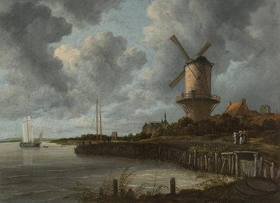 Rijksmuseum De Molen bij Wijk bij Duurstede Jacob Isaacksz. Van Ruisdael RM50 (Met Gratis Lijm)