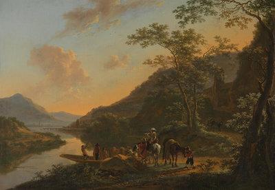 Rijksmuseum Italiaans Landschap met overzetveer Jan Both RM49 (Met Gratis Lijm)