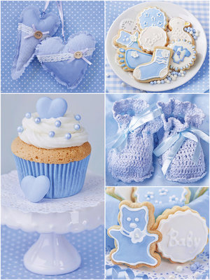 Blue Dreamy Cupcakes Fotobehang 10444VEA