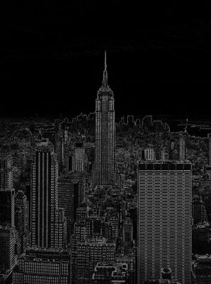 Black and White Sketch of City Fotobehang 10687VEA