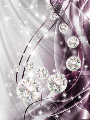 Abstract, Diamonds, Silver and Violet Fotobehang 10404VEA