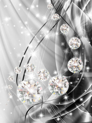 Abstract, Diamonds, and Silver Fotobehang 10406VEA