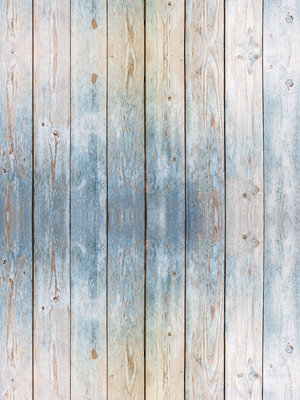 Blue Wooden Planks Fotobehang 10670VEA