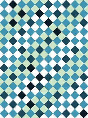 Blue Tiles Mosaic Fotobehang 10701VEA