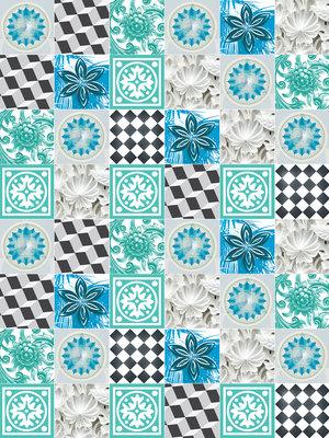 Blue Tiles Mosaic Fotobehang 10702VEA