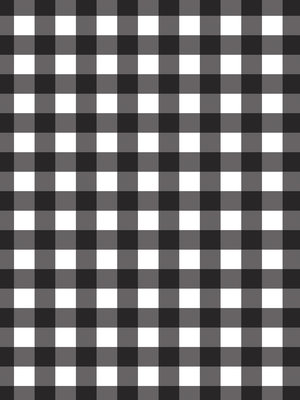 Black and White Chequer Fotobehang 10680VEA