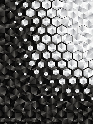 3D Hexagons  Fotobehang 10684VEA