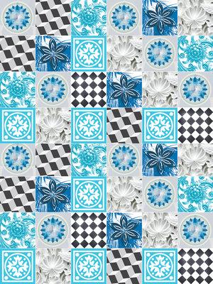 Blue Tiles Mosaic Fotobehang 10707VEA