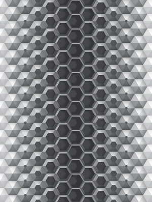 3D Hexagons Fotobehang 10762VEA