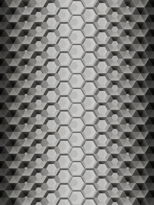 3D Hexagons Fotobehang 10763VEA