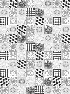 Black and White Tiles Fotobehang 10855VEA