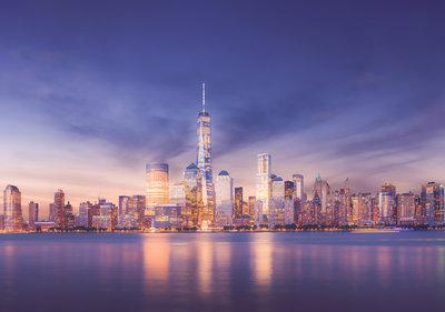 New York at night Fotobehang 13303P8