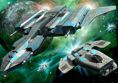 Space ships Fotobehang 13291P8