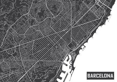 Barcelona Plattegrond Fotobehang 12745P8