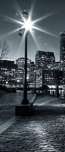 New York at Night Deurposter Fotobehang 275VET