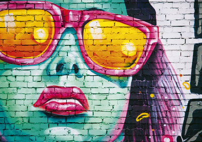 Graffiti Stenen Muur Fotobehang 12603P8