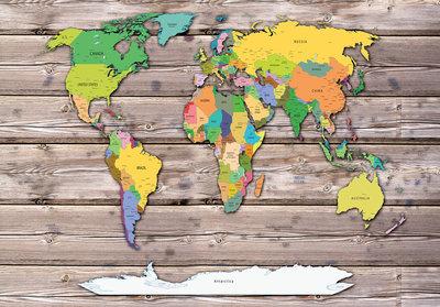 Wereldkaart Fotobehang 10869P8