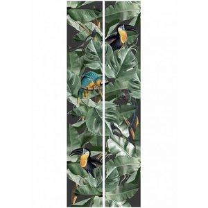 KEK Botanical Birds black 2d WP-579 (Met Gratis Lijm)