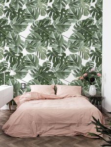 KEK Monstera white 2d WP-584 (Met Gratis Lijm)