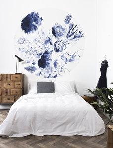 KEK Circle Royal Blue Flowers CK-002 (Met Gratis Lijm)