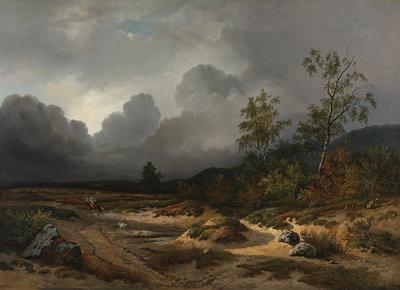 Rijksmuseum Landschap bij naderend onweer Willem Roelofs RM58 (Met Gratis Lijm)