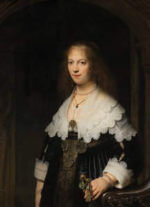 Rijksmuseum Portret van Maria Trip RM55 (Met Gratis Lijm)