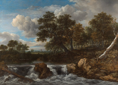 Rijksmuseum Landschap met waterval RM51 (Met Gratis Lijm)