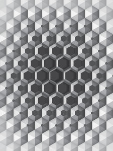 3D Hexagons Fotobehang 10760VEA